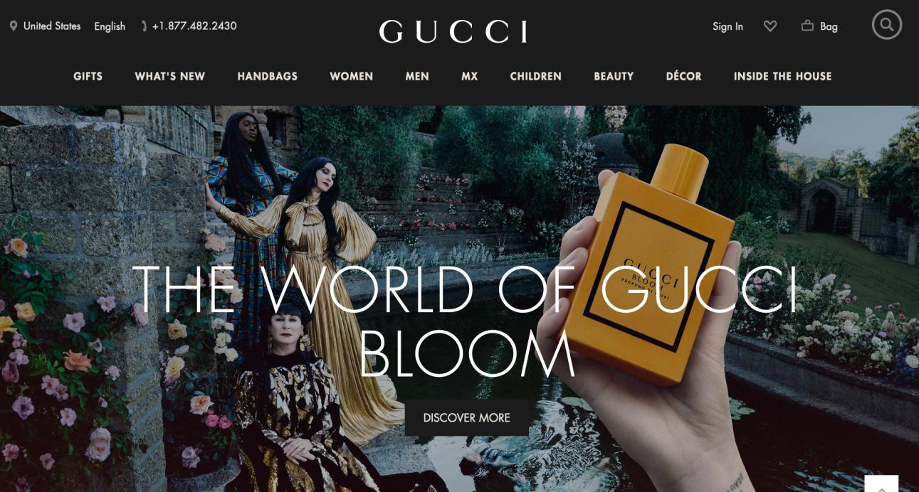 Gucci 联手 Snapchat 推出增强现实香水体验小游戏